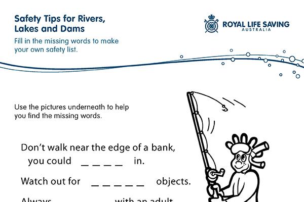 Rivers, Lakes, Dams Missing Words