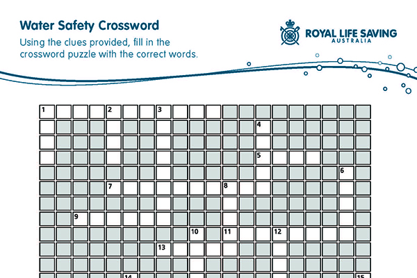 Water Safety Crossword