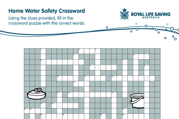 Home Water Safety Crossword