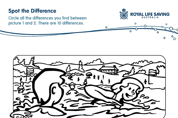 Spot the Difference Water Safety