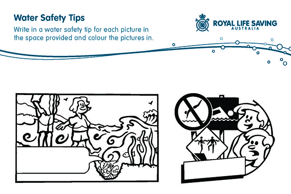Fill in the Water Safety Tips