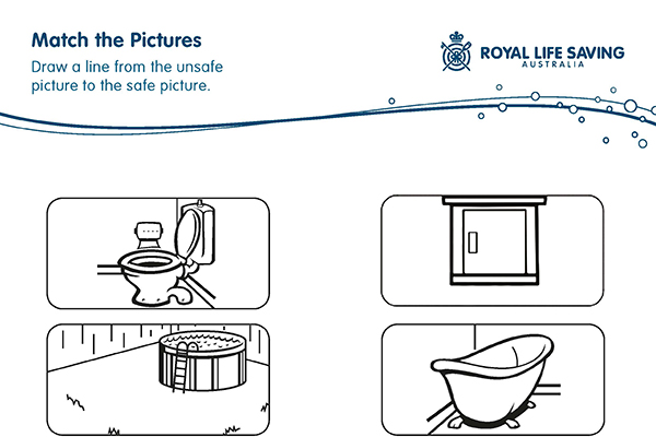 Match the Pictures Water Safety